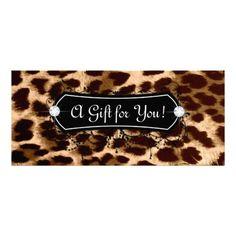 Fashion Jewelry Gift Card Leopard