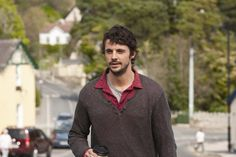 Matthew Goode in a great Pullover Sweater layered with a contrast shirt. Brilliant for Autumn/Winter