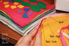 DIY Quiet Book for keeping little kids entertained at restaurants.