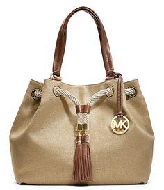 Michael Kors Marina Gathered Tote Satchel Handbags