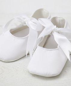 Look at this #zulilyfind! White Ribbon Mary Jane by Truffles Ruffles #zulilyfinds