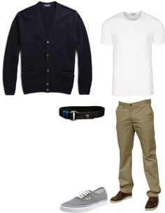 """Men's Casual Wear"" by itssosimple on Polyvore I would change it to a v neck t-shirt and boat shoes."