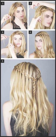 Fuel Your Braid Obsession - Game of Thrones Inspired Hairstyles . # waterfall Braids faces Fuel Your Braid Obsession - Game of Thrones Inspired Hairstyles . Waterfall Hairstyle, Waterfall Braids, Beautiful Hairstyle For Girl, Braided Hairstyles, Cool Hairstyles, Braids Step By Step, Braiding Your Own Hair, Hair Dos, Hair Hacks