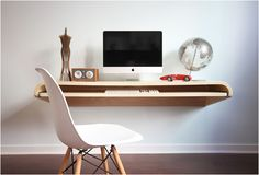 Minimal Float Wall Desk | Image