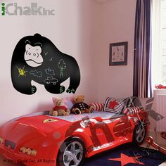 Giant Gorilla Chalkboard Sticker Wall Decal for Home by iChalkInc