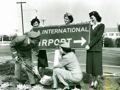 #tbt Throwback Thursday - airline crew at #LAX, 1950.