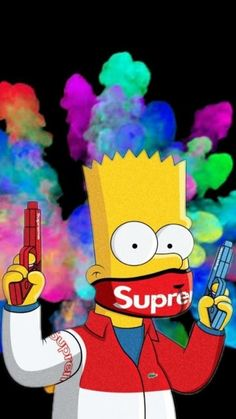 Simpsons Wallpaper by RoosterAndCat - 17 - Free on ZEDGE™ now. Browse millions of popular cartoon Wallpapers and Ringtones on Zedge and personalize your phone to suit you. Browse our content now and free your phone Dope Wallpaper Iphone, Supreme Iphone Wallpaper, Simpson Wallpaper Iphone, Trippy Wallpaper, Sad Wallpaper, Screen Wallpaper, Wallpaper Samsung, Wallpapers Android, Bape Wallpapers