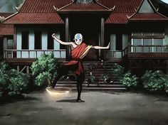 i love when aang actually uses his fire bending (even though i know he doesnt like it as much as the other elements)