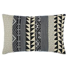 Buy John Lewis Geo Medley Cushion, Black Online at johnlewis.com