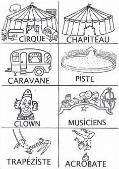 imagier cirque noir et blanc Decoration Cirque, Art Du Cirque, Le Clown, Circus Party, Cabaret, Clowns, Workshop, French, Couture