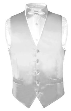Mens Silk Dress Vest And Bowtie Set In Silver Grey Color. Made By Biagio Brand Collection. Perfect For The Holidays Or Special Occassions. Mens Suit Vest, Mens Suits, John Booth, Home Design, Vest And Bow Tie, Bow Ties, Neck Ties, Dama Dresses, Quinceanera Dresses