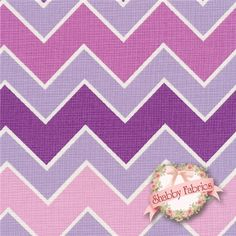 "Shaded Chevron 780-12 Grape by Riley Blake Designs: Shaded Chevron is a collection by Riley Blake Designs. 100% cotton. 43/44"" wide. This fabric features tonal purple chevrons. Chevrons are about 3/4"" thick."
