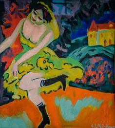 Ernst Ludwig Kirchner - Varietetänzerin, 1920 at Staatliche Kunsthalle Karlsruhe Germany (by mbell1975)