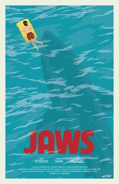 JAWS fan poster by Matt Talbot Still drawing those daily October horror posters. Only two to go! And I'm pretty sure I know what both of them will be. Maybe.