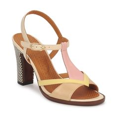 Sandales Chie Mihara TOGA Jaune / Rose / Blanc / Beige - Livraison Gratuite avec Spartoo.com ! - Chaussures Femme 249,00 €