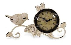 Prime Décor Collection Bird Tabletop Clock 4.5 inch h x 8.75 inch w x 4 inch