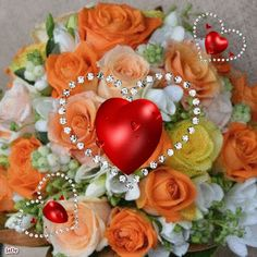 Flowers Gif, Beautiful Rose Flowers, Beautiful Gif, Romantic Love Messages, Happy Birthday Video, Animated Heart, Love You Gif, Heart Gif, Good Night Greetings