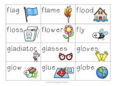bl, cl, fl, gl, pl, sl 'L' Word Blend Activity - Kindergarten