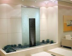 50 Soothing Indoor Water Features For Your Home Contemporary Indoor Fountains, Indoor Wall Fountains, Water Fountains, Water Wall Fountain, Indoor Water Features, Diy Water Feature, Fountain Design, Fountain Ideas, Water Walls