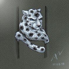 #azilaz #ring #leopard #handdrawing #handsketch #jewelry #designer #designerjewelry #diamond #onyx