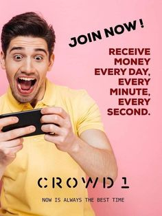 Crowd1 is best to earn money Business Money, Online Business, How To Get Rich, How To Become, Bitcoin Market, Investing In Stocks, Smart Women, Online Coaching, Be Your Own Boss