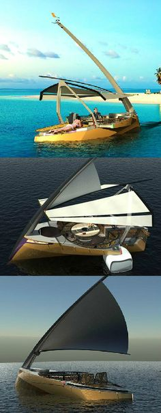 The latest from boating aficionado Hyun-Seok Kim, the Hoi 6.6m vessel is an artistic approach to the personal craft. A hybrid design with two different modes, sailing or motor power, even beginners can enjoy the easy to use navigation and control systems. #Boat #Sailing #Yankodesign