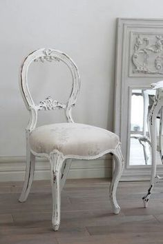Beautiful white chair