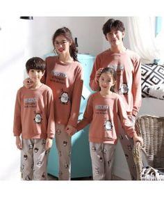 Parent-child pajamas long-sleeved trousers family wear cartoon home service Adult Onesie Pajamas, Couple Pajamas, Boys Pajamas, Pajamas Women, Mens Pjs, Family Christmas Pajamas, Quality Lingerie, Kids Board, Pajama Set