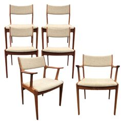 1980s Vintage Danish Modern Scandinavia Woodworks Teak Dining Chairs - Set of 6