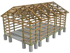 Build a Home from Pole Barn Design Plans pole-barn-plans. Pole Barn Kits, Pole Barn Designs, Building A Pole Barn, Pole Barn House Plans, Barn Garage, Pole Barn Homes, Building A House, Pole Barns, Garage Plans