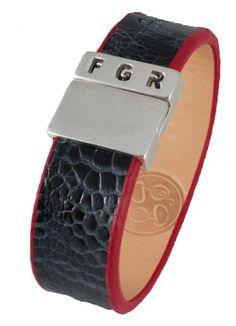 #pulsera #piel #avestruz #cuero #finger360 #bangle #leather #ostrich #gris
