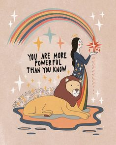You are more powerful than you know Mini Art Print by Asja Boros - Without Stand. Affirmations, Citations Yoga, Psy Art, Happy Words, Pretty Words, Journal Pages, Drawing People, Inspire Me, Positive Quotes