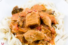Hungarian Pork Paprikash: a meal you'll think about for at least a decade Pork Recipes, Cooking Recipes, Healthy Recipes, Herbs For Pork, Dutch Oven Cooking, Stewed Tomatoes, Spicy Chili, Man Food