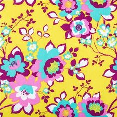 "APT5-1 Citron Aztec Floral Print Fabric is 44"" - 45"" wide and 100% cotton. Make your home decor come alive using this pretty citron fabric with magenta and turquoise floral pattern. With a bright, beautiful, unique pattern, this fabric will make beautiful pillow covers, drapes, curtains, and so much more!    	CARE INSTRUCTIONS: Machine wash, cold; tumble dry.    	Available in 1-yard increments. Average bolt size is approximately 9 yards. Price displayed is for 1-yard. Enter the ..."