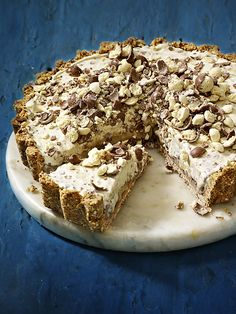 This malted milk and caramel ice-cream pie is a great, easy, make-ahead dessert that everyone will love. It will keep for up to a week, wrapped in clingfilm in the freezer.