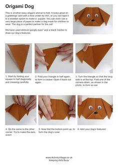 Origami dog instructions | Activity Village