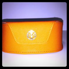 Tory Burch Sunglass Case Orange in perfect condition. Purchased it with a pair of aviators lost the glasses. Tory Burch Accessories Sunglasses