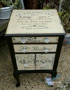 Adding That Perfect Gray Shabby Chic Furniture To Complete Your Interior Look from Shabby Chic Home interiors. Painting Wooden Furniture, Decoupage Furniture, Funky Furniture, Refurbished Furniture, Repurposed Furniture, Home Decor Furniture, Shabby Chic Furniture, Furniture Makeover, Antique Furniture