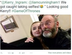 'Game Of Thrones' Season 5 Spoilers, Release Date: Filming Wrapping Up For Margarey Tyrell, Sand Snakes And Shireen Baratheon Valar Dohaeris, Valar Morghulis, Liam Cunningham, Game Of Thrones Houses, Taking Selfies, Mother Of Dragons, When I Grow Up, Release Date, Growing Up