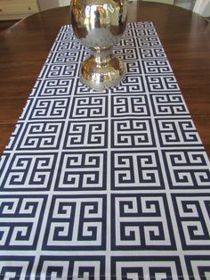Shop for table runner on Etsy, the place to express your creativity through the buying and selling of handmade and vintage goods. Greek Party Decorations, Party Themes, Table Decorations, Party Ideas, Greek Key, Greek Gods, Table Runner And Placemats, Table Runners, Greek Dinners