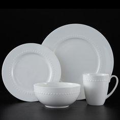 Roscher 32-pc. Hobnail Bone China Dinnerware Set & Roscher 32-pc. Braid Bone China Dinnerware Set | Dishes | Pinterest ...