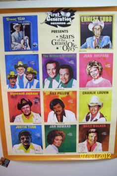 VINTAGE GRAND OLE OPRY POSTER