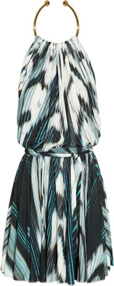 Just Cavalli Printed Crepejersey Dress in Multicolor (multicolored) - Lyst