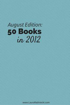 50 Books in 2012 - August Recap