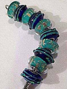 Blue Dew meets Oasis...a perfect match!  from the Trollbeads Gallery Forum ... love these beads together