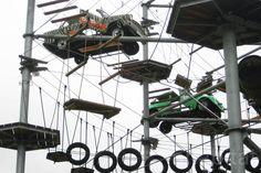 Berlin's High-Flying 'Mount Center' Climbing Park Looks Like a...