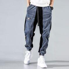 Jogger Pants Jeans, Harem Trousers, Cargo Pants Men, Joggers, Fashion Pants, Mens Fashion, Striped Jeans, Streetwear Fashion, Streetwear Men