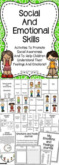 Social and Emotional Skills - Colleague IDEAS This is a supplemental activity book to use with children when teaching them social skills and about their emotions. This social skills resource includes games, scenario cards, a journal, and more. Social Emotional Activities, Social Emotional Development, Teaching Social Skills, Emotions Activities, Children Activities, Manners Activities, Social Skills Games, Emotions Preschool, Teaching Emotions