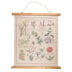 Wildflower Wall Hanging Canvas Print available to buy direct from Sass & Belle, for the little things in life. Framed Canvas Prints, Canvas Wall Art, Barker And Stonehouse, Hanging Canvas, Wooden Hangers, Vintage Canvas, Room Wall Decor, Metal Wall Art, Diy Wall
