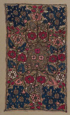 18th C Algerian Panel of linen and silk